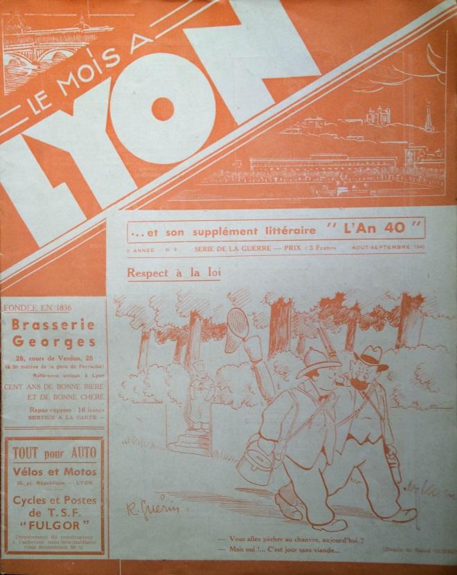 Le Mois à Lyon août-septembre 1940