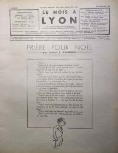 Le Mois à Lyon décembre 1940 éditorial