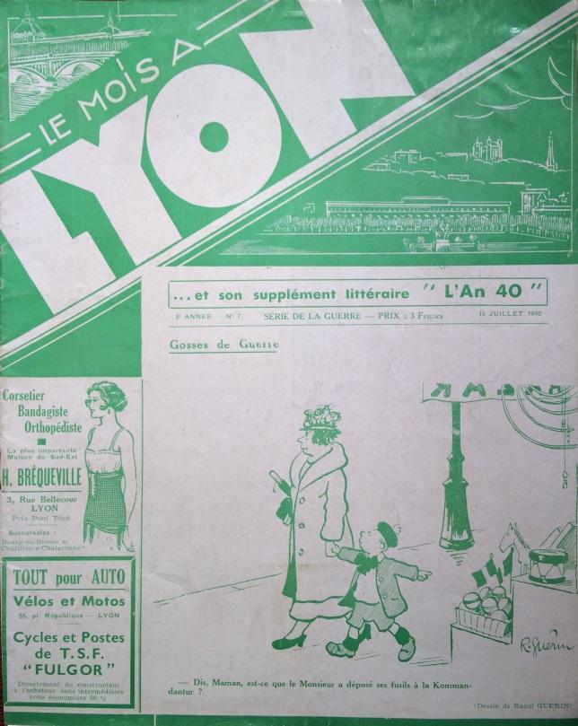 Le Mois à Lyon juillet 1940