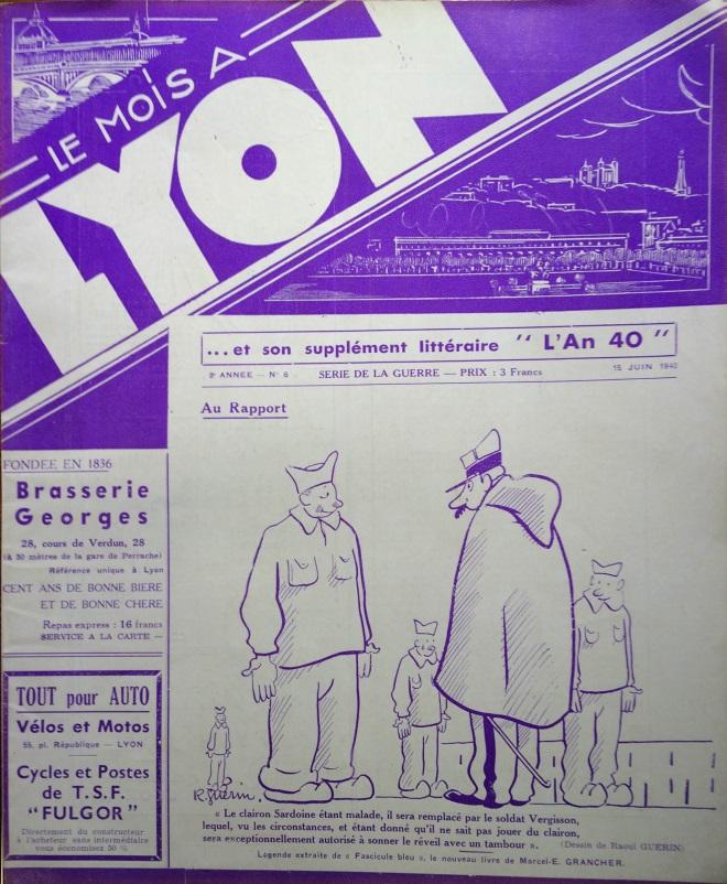 Le Mois à Lyon juin 1940