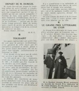 Le Mois à Lyon novembre 1938 texte Toussaint présumé de Dard - Copie (2) - Copie