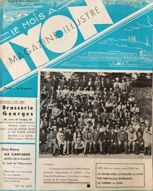 Le Mois à Lyon novembre 1938