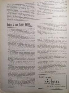 Le Mois à Lyon novembre 1940 éditorial suite
