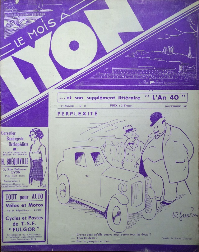 Le Mois à Lyon novembre 1940