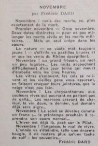 Le Mois à Lyon novembre 1940 article F. Dard