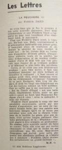 Le Mois à Lyon novembre 1940 critique de la Peuchère