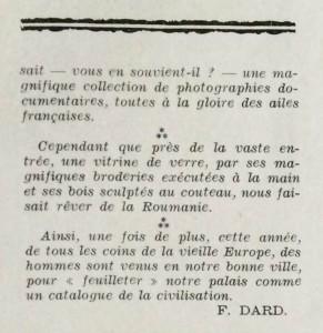 Le Mois à lyon avril 1939 texte Dard suite