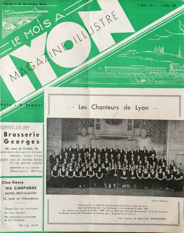 Le Mois à Lyon avril 1939