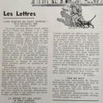 Rubrique  les Lettres