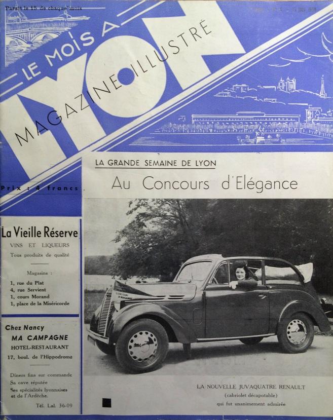 Le Mois à Lyon juin 1939