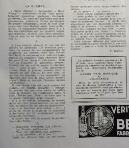 Le Mois à lyon mai 1939 texte D