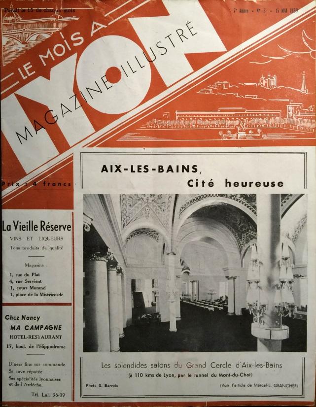 Le Mois à Lyon mai 1939