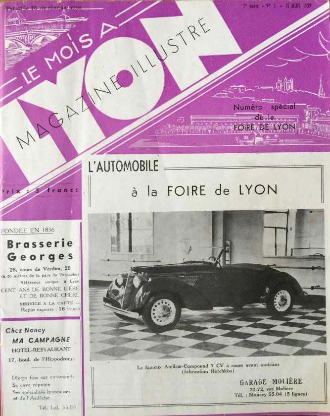 Le Mois à Lyon mars 1939