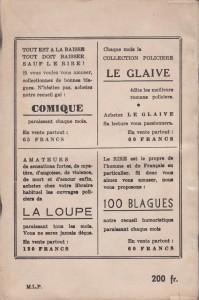 Rions ! 3ème trimestre 1954 back