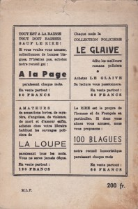 Rions ! 4ème trimestre 1953 back