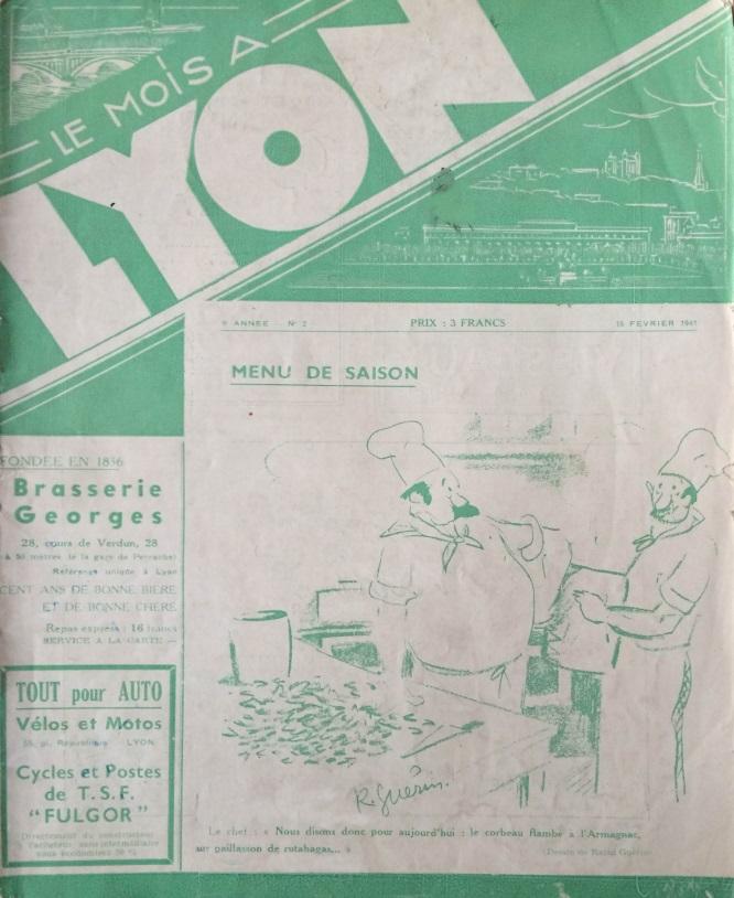 Le Mois à Lyon 15 février 1941