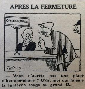 Dessin R. Roux 16 oct 1946
