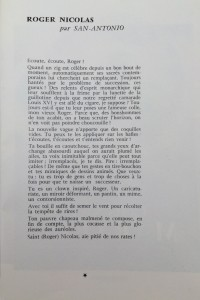 L'Européen vaudeville 1969 texte roger Nicolas de Dard