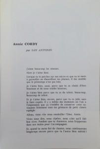 L'Européen vaudeville 1970 texte Annie Cordy