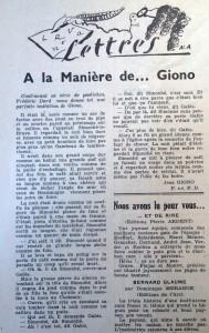 Le mois à Lyon 15 décembre 1947 a la maniere de Giono texte dard