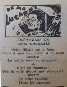 Le mois à Lyon 15 décembre 1947 fables charlaix