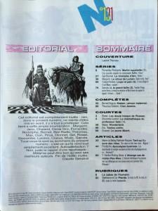 Métal hurlant n°131 mai 1987 sommaire