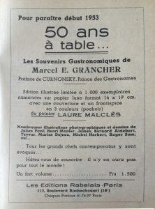 La table et la route n°8 livre grancher