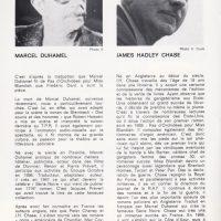 Programme théatre Porte Saint-Martin Pas d'orchidées pour Miss Blandish Duhamel et Chase