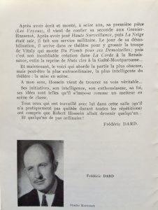 Docteur Jekyll et Mister Hyde  saison 1954-55 texte Dard sur Hossein fin