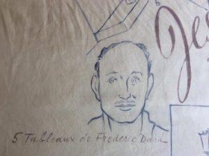 Jésus la Caille foulard dessin Frédéric Dard