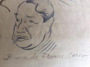 Jésus la Caille Foulard dessin Carco