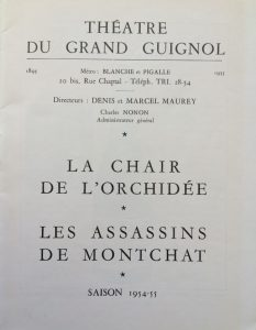 La chair de l'orchidée et les assassins de monchat saison 1954-55