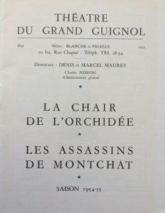 La chair de l'orchidée et les assassins de monchat saison 1954-55