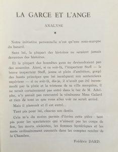 La garce et l'ange saison 1953-54 texte Frédéric Dard