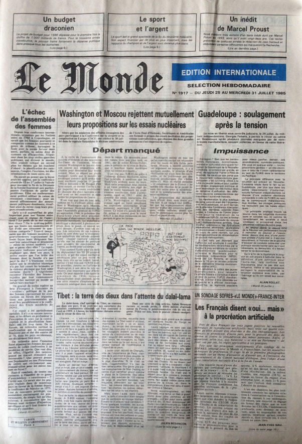 Le Monde sélection hebdomadaire n°1917