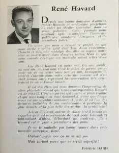 Programme Arsenic et vieilles dentelles Théâtre Daunou Texte Dard