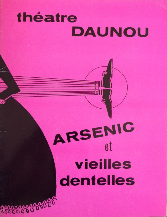 Programme Arsenic et vieilles dentelles Théâtre Daunou