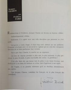 Programme La facture Théâtre Palais Royal texte Dard
