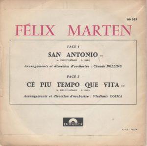 Felix Marten chante san-Antonio back