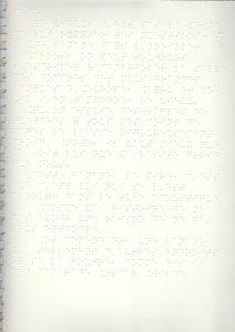 une page en braille