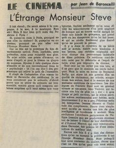 Le Monde 3873 L'etrange Monsieur Steve