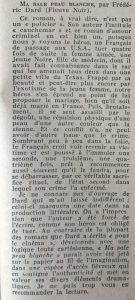 Mystère Magazine n°124 Ma sale peau blanche