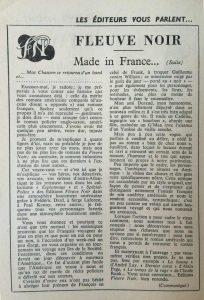Mystère magazine n°125 article fleuve noir parlant de dard