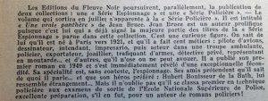 Mystère magazine n°41 éditions fleuve noir