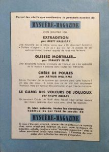 Mystère magazine n°58 back