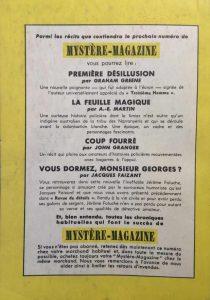 Mystère magazine n°60 back