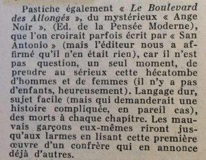 Mystère magazine n°60 le boulevard des allongés
