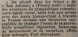 Mystère magazine n°62 du plomb dans les tripes