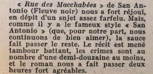 Mystère magazine n°80 rue des macchabées