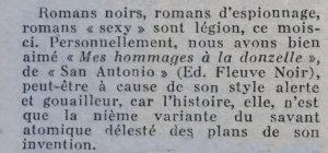 Mystere magazine n°58 critique Dard